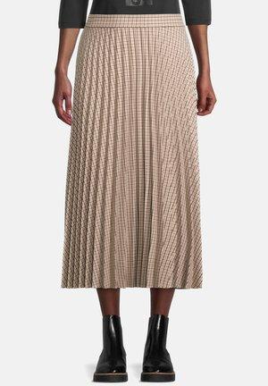 MIT PLISSEE - A-line skirt - nature black