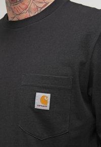 Carhartt WIP - POCKET  - Top sdlouhým rukávem - black - 4