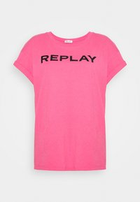 Replay - T-shirt con stampa - pink cyclamen - 3
