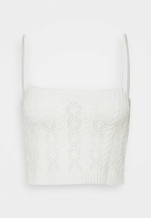 POINTELLE CAMI - Topper - white