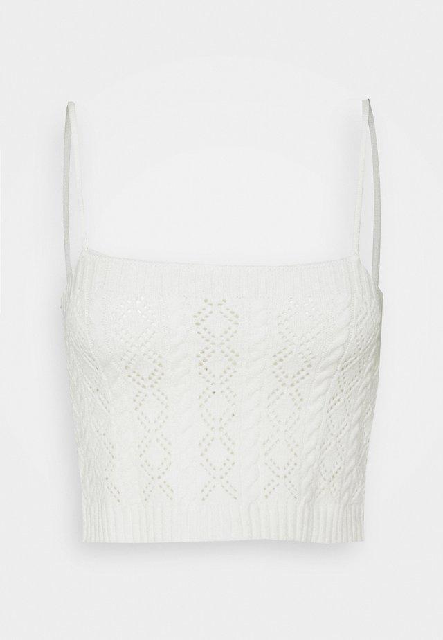 POINTELLE CAMI - Top - white