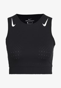Nike Performance - AEROSWIFT CROP - Sports shirt - black/white - 0