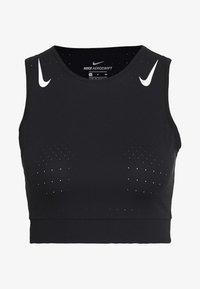 AEROSWIFT CROP - Sportshirt - black/white