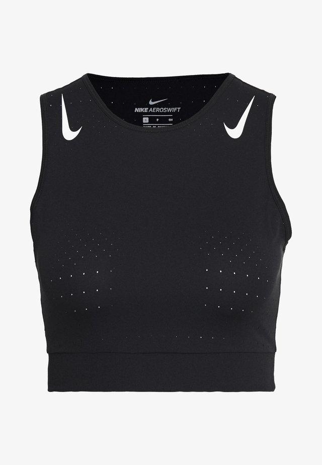 AEROSWIFT CROP - T-shirt de sport - black/white