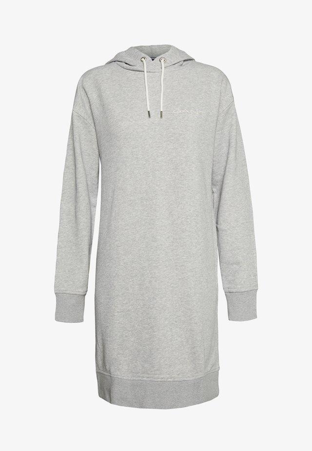 HOODIE DRESS - Vapaa-ajan mekko - grey