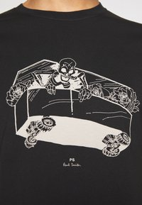 PS Paul Smith - SLIM FIT COFFIN - T-shirts med print - black - 5