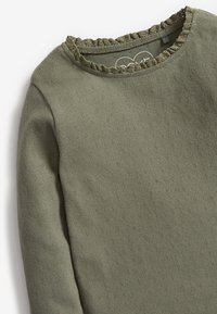 Next - BRUSHED POINTELLE - Long sleeved top - green - 2