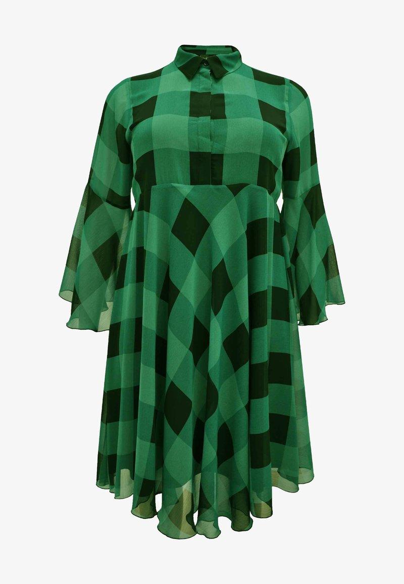 Yoek - CHECK PRINT - Day dress - green