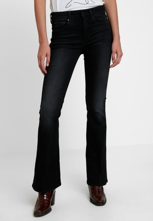 3301 HIGH FLARE - Flared Jeans - jet black