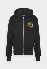 Versace Jeans Couture - FULL ZIP HOODIE WITH LOGO - Bluza rozpinana - nero - 7
