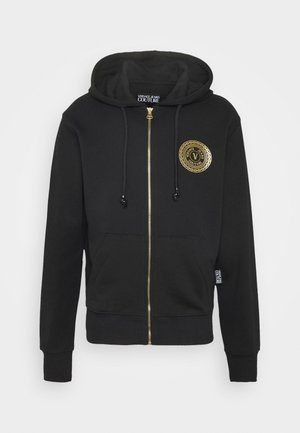 FULL ZIP HOODIE WITH LOGO - Sweatjacke - nero