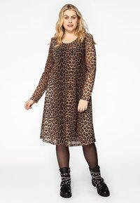 Yoek - Day dress - brown - 1