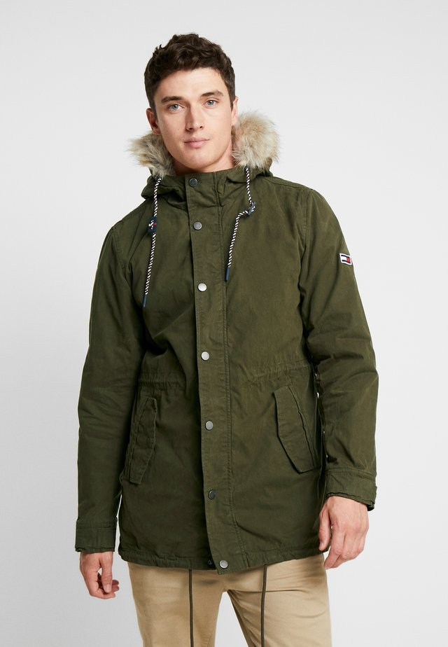 LINED  - Parka - forest night