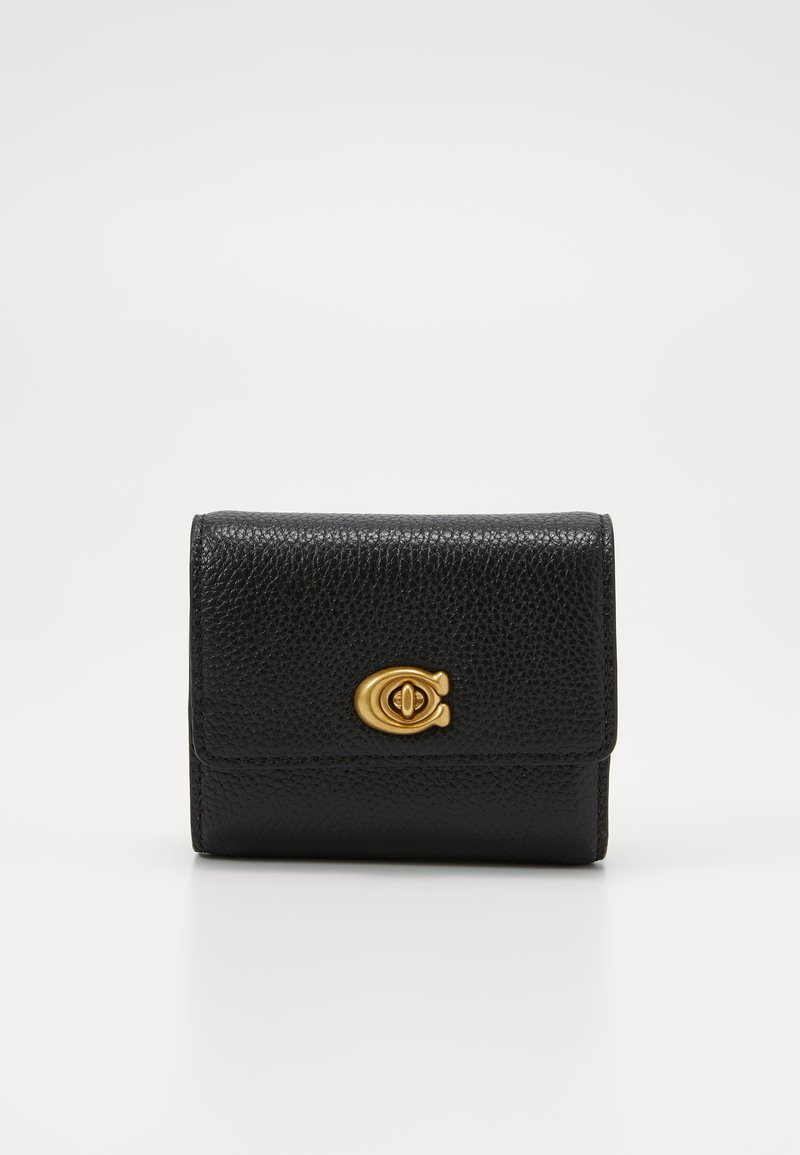 Coach - POLISHED TURNLOCK SMALL WALLET - Wallet - black