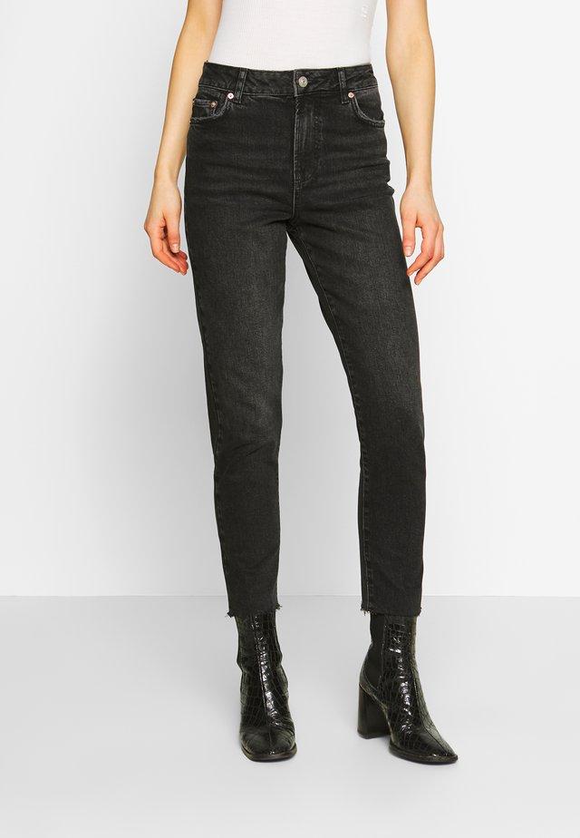 PCNIMA - Straight leg jeans - black denim
