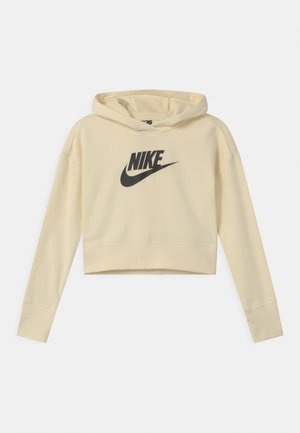 CLUB CROP HOODIE - Mikina - coconut milk/black