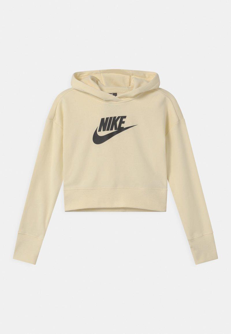 Nike Sportswear - CLUB CROP HOODIE - Sudadera - coconut milk/black