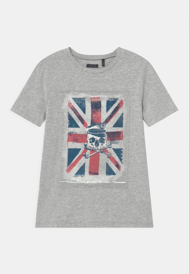 T-shirt con stampa - gris