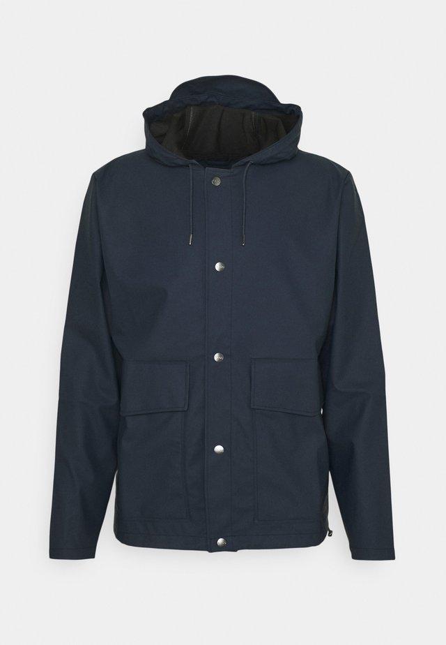 SHORT HOODED COAT UNISEX - Vodotěsná bunda - blue