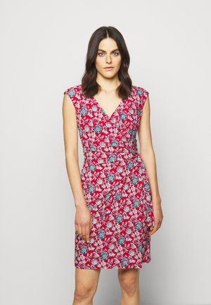PRINTED MATTE DRESS - Jerseyklänning - red/blue/multi