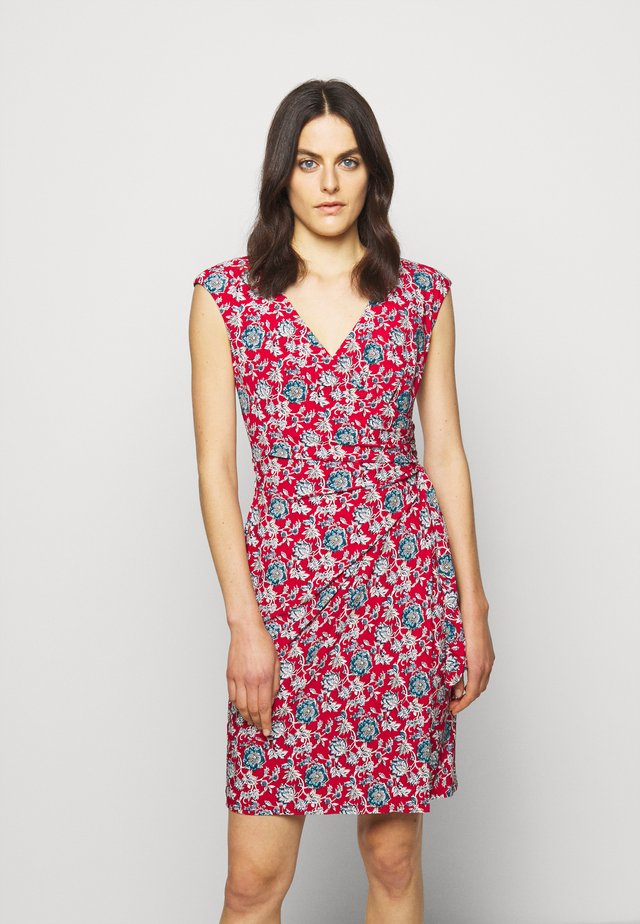 PRINTED MATTE DRESS - Vestido ligero - red/blue/multi