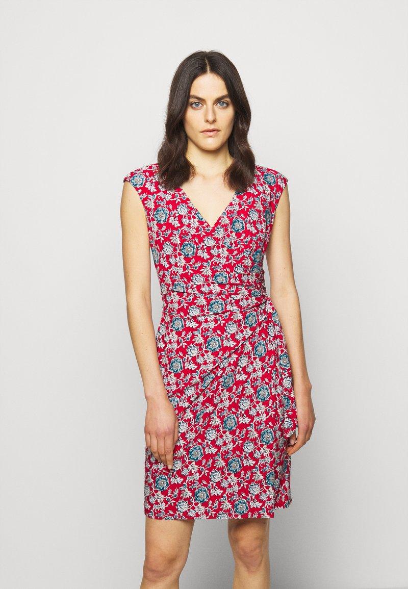 Lauren Ralph Lauren - PRINTED MATTE DRESS - Žerzejové šaty - red/blue/multi