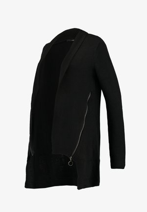 CARDIGAN ZIP - Cardigan - black