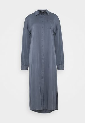 UTILITY MIDI DRESS - Košilové šaty - slate blue