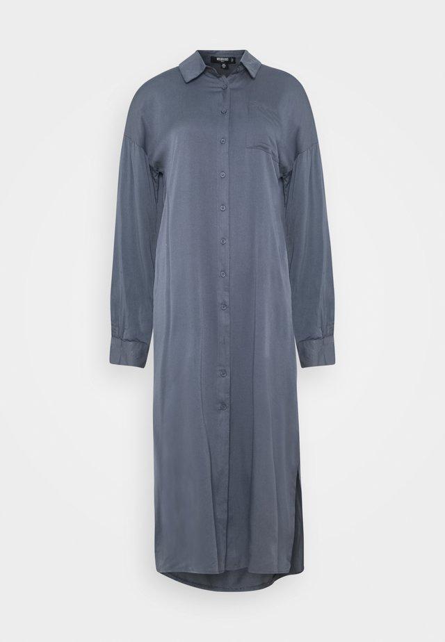 UTILITY MIDI DRESS - Shirt dress - slate blue