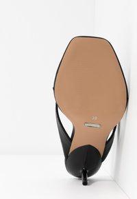 Topshop Wide Fit - WIDE FIT NINA MULE - T-bar sandals - black - 6