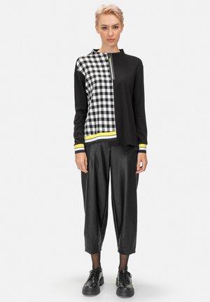 Zip-up sweatshirt - schwarz weiss