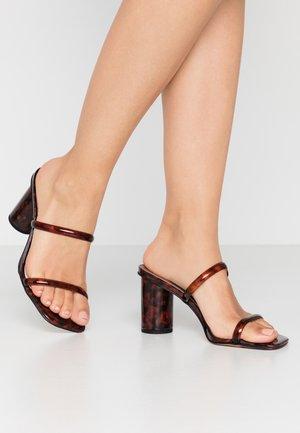 NOLES - Heeled mules - brown