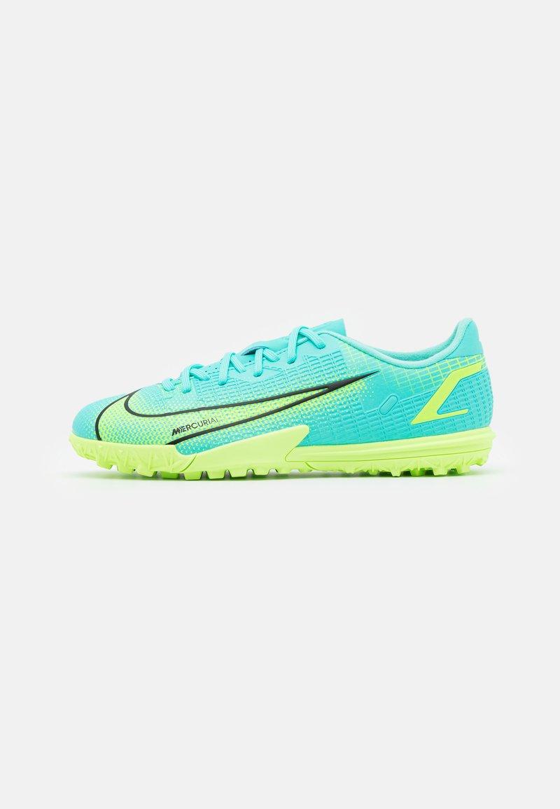 Nike Performance - JR MERCURIAL VAPOR 14 ACADEMY TF UNISEX - Astro turf trainers - dynamic turq/lime glow