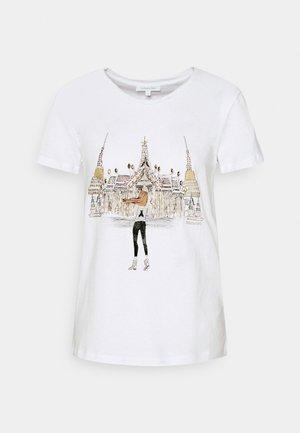 MAGLIA - T-shirt z nadrukiem - bianco/temple
