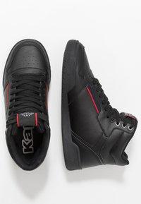 Kappa - MANGAN - Chaussures de running neutres - black/red - 1