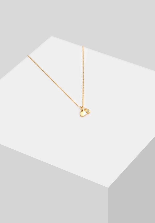 SOLITÄR - Necklace - gold-coloured