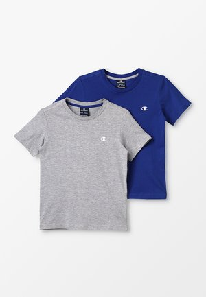 BASICS CREW NECK 2 PACK - Basic T-shirt - grey/blue