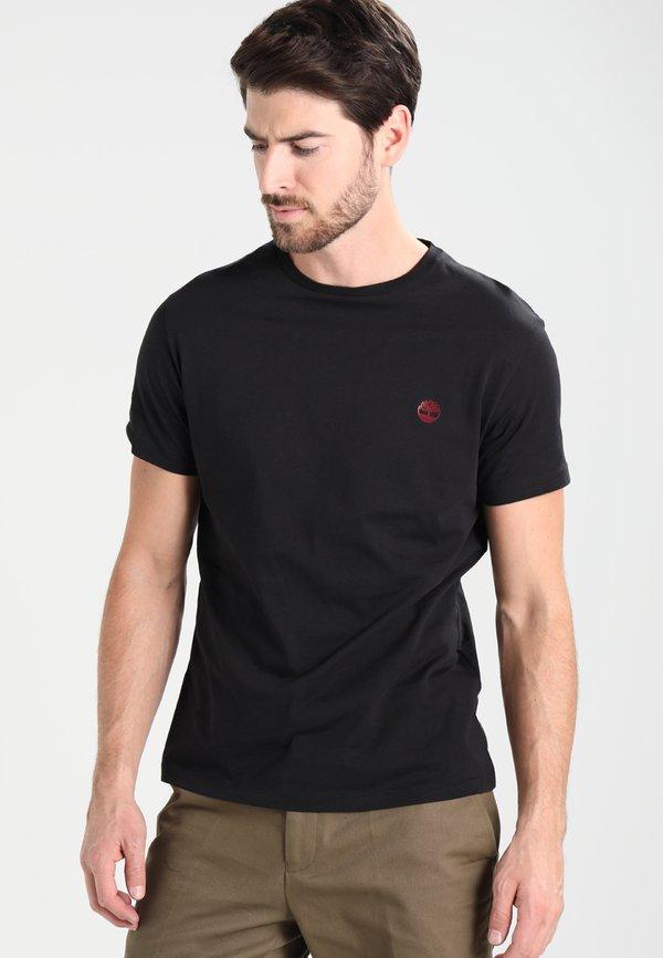Timberland CREW CHEST - T-shirt basic - black/czarny Odzież Męska ZYDT