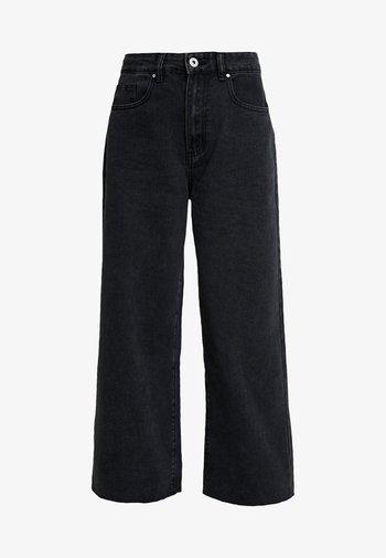 HIGH RISE WIDE LEG - Straight leg -farkut - vintage black