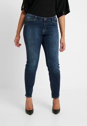 JRFIVEOLGA - Jeans Skinny Fit - dark blue denim