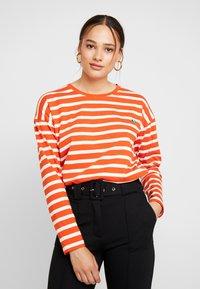 Blendshe - BSOLINE - Long sleeved top - orange/white - 0