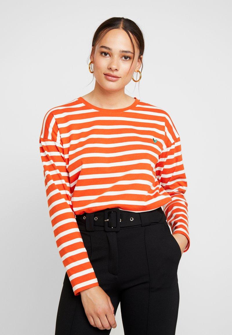 Blendshe - BSOLINE - Long sleeved top - orange/white