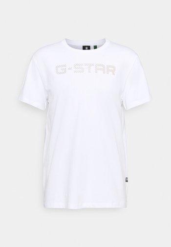 G-STAR R T S\S - Triko spotiskem - white