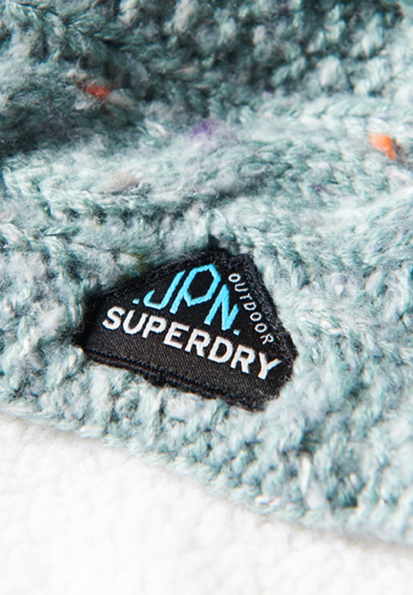 Superdry Gracie Cable - Schlauchschal Sea Blue Tweed/türkis