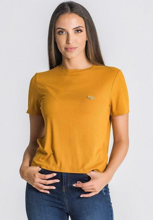 CORE - T-shirt imprimé - gold