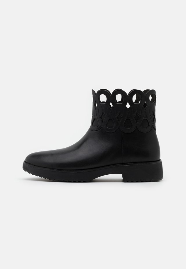 FRIEDA - Platform ankle boots - black