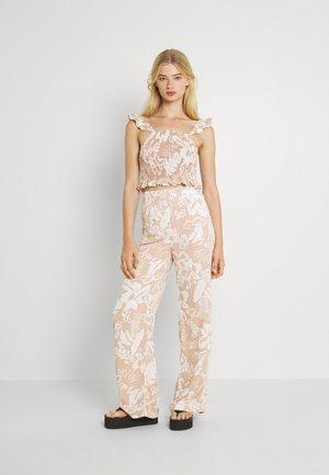SET - Trousers - beige