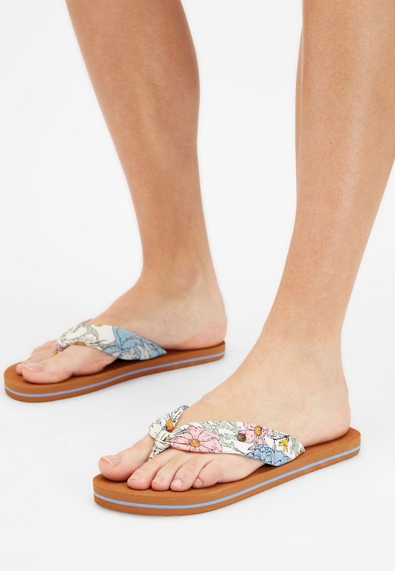 O'Neill - DITSY SUN - T-bar sandals - white all over print