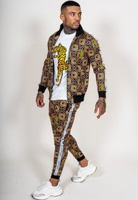 Ed Hardy - TIGER CROUCH BAROQUE TRACK PANT - Tracksuit bottoms - black - 0