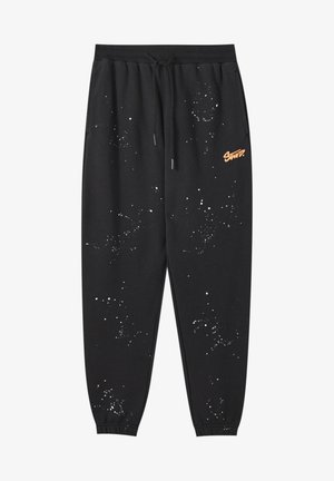 Tracksuit bottoms - mottled black